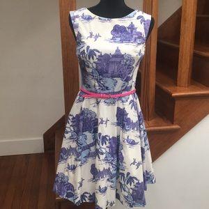 Oasis Floral Frocks Pagoda Dress